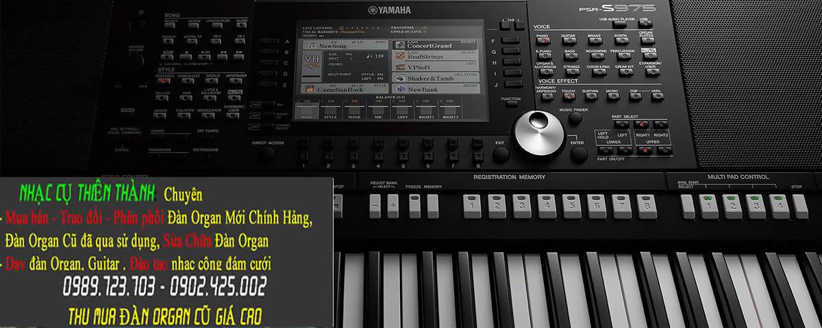 Đàn Organ Yamaha Psr s975 Mới Bảo hành Chính Hảng